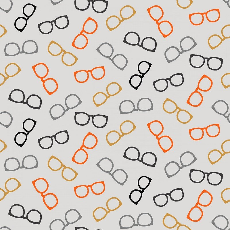 Wild & Free - Tossed Glasses on Grey by Jessica Mundo for Henry Glass