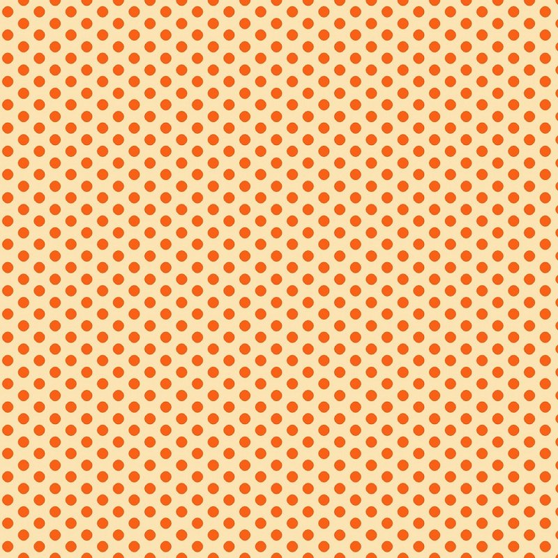 Wild & Free - Small Set Dots in Orange by Jessica Mundo for Henry Glass