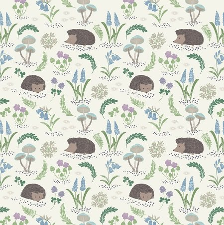 Bluebell Wood - Hedgehog on White by Lewis & Irene