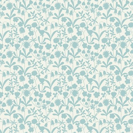 Bluebell Wood - Floral Silhouette in Duckegg by Lewis & Irene