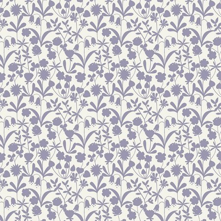 Bluebell Wood - Floral Silhouette in Lavender by Lewis & Irene