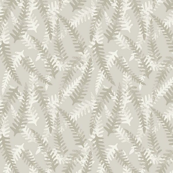 Bluebell Wood - Fern in Cream by Lewis & Irene