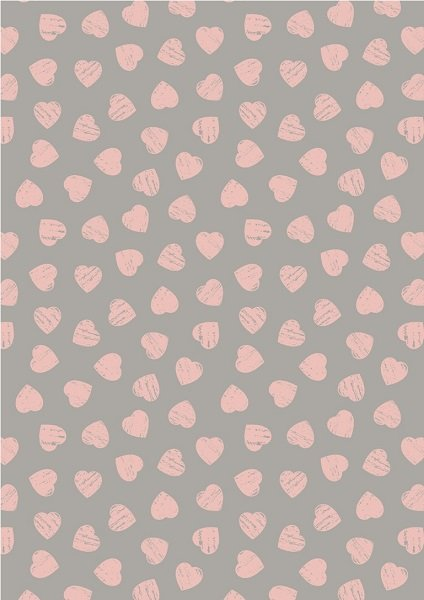 Dove House - Pink Hearts on Dove by Lewis & Irene