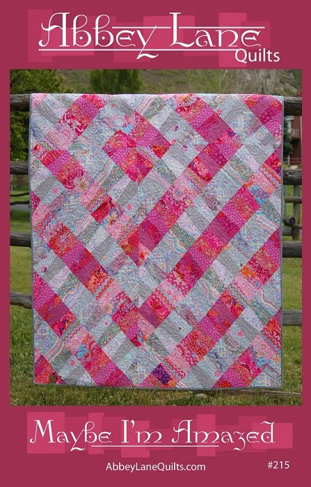 Pattern - Maybe I'm Amazed (63 x 78)  by Marcea Owen and Janice Liljenquist from Abbey Lane Quilts