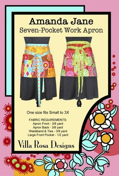 Amanda Jane: Seven-Pocket Work Apron - A Villa Rosa Pattern
