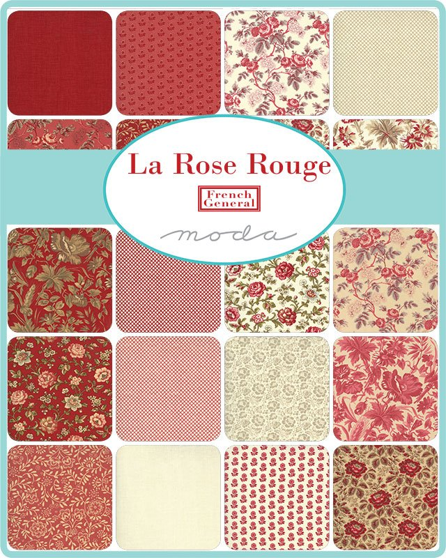 Layer Cake - La Rose Rouge (42 x 10 squares) by French General for Moda