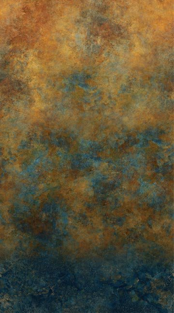 Stonehenge Wide Back - Ombre in Oxidized Copper (108 wide) by Linda Ludovico for Northcott