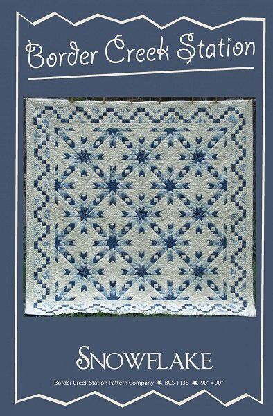 Pattern and Pre-Printed Foundation Paper - Snowflake (90 x 90) by Sherri Hisey for Border Creek Station