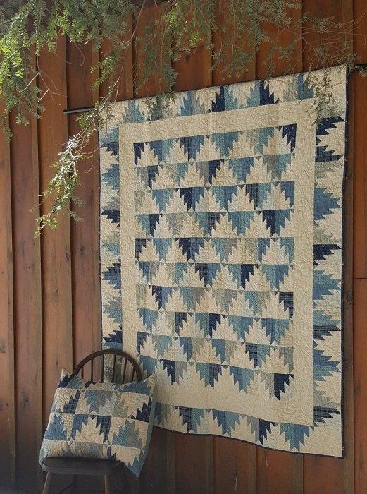 Pattern - Blue Mountain (59 x 75) by Sherri Hisey from Border Creek Station Pattern Co