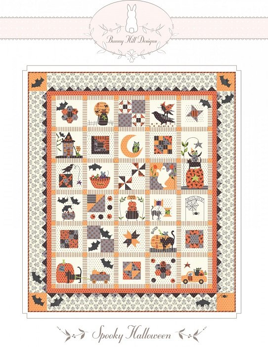 Pattern - Spooky Halloween (46 x 53) by Bunny Hill Designs