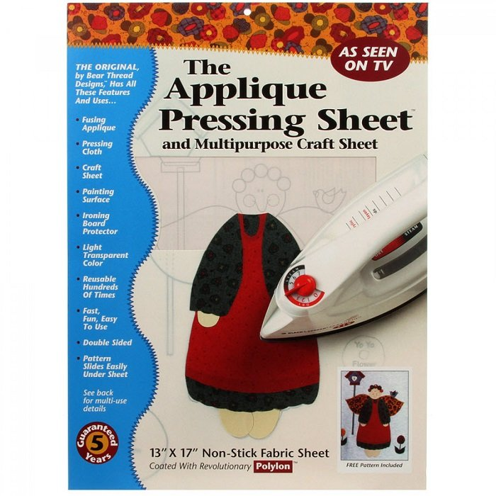 Applique Pressing Sheet (13 X 17) by Bear Thread Designs