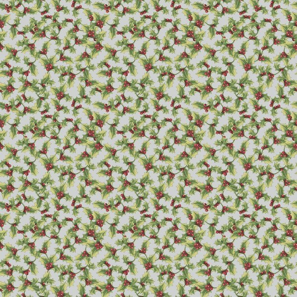 Anne of Green Gable Christmas Collection - Holly on Gray from Penny Rose Fabrics