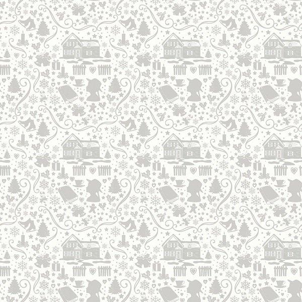 Anne of Green Gable Christmas Collection - Silhouette in Gray from Penny Rose Fabrics