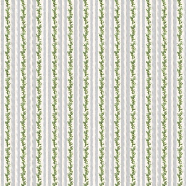Anne of Green Gable Christmas Collection - Stripe in Gray from Penny Rose Fabrics