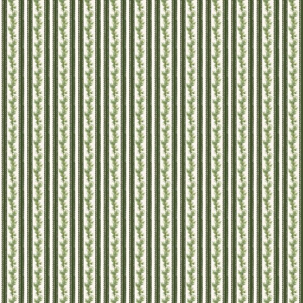 Anne of Green Gable Christmas Collection - Stripe in Green from Penny Rose Fabrics