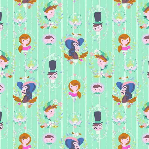 Neverland - Darling Wall in Mint by Jill Howarth for Riley Blake Designs