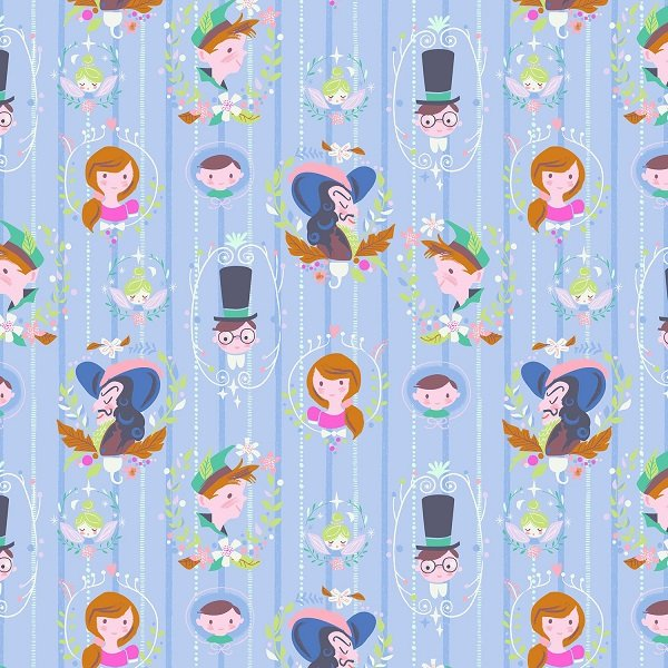 Neverland - Darling Wall in Periwinkle by Jill Howarth for Riley Blake Designs