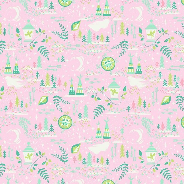 Neverland - Lantern in Pink by Jill Howarth for Riley Blake Designs