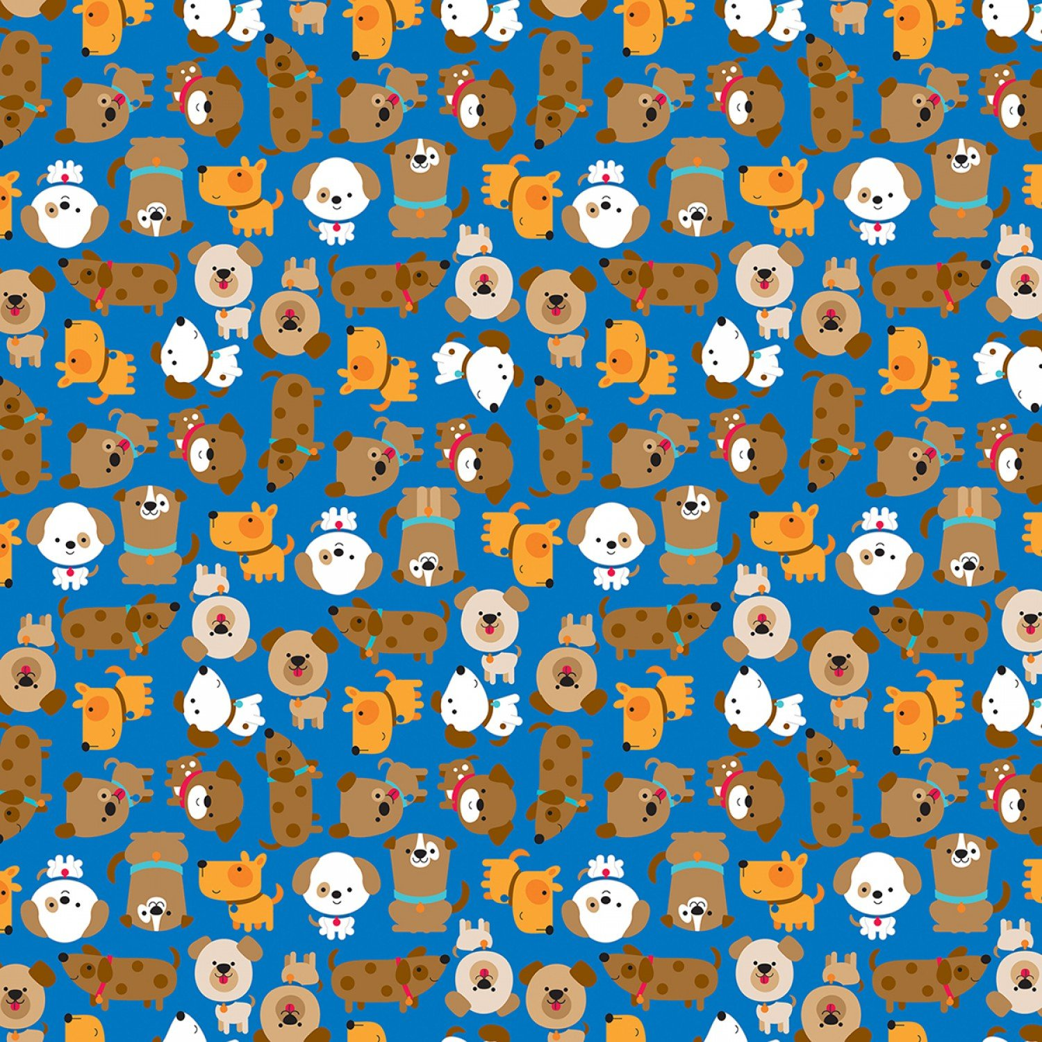 Puppy Love - Love in Blue by Doodlebug Design Inc for Riley Blake