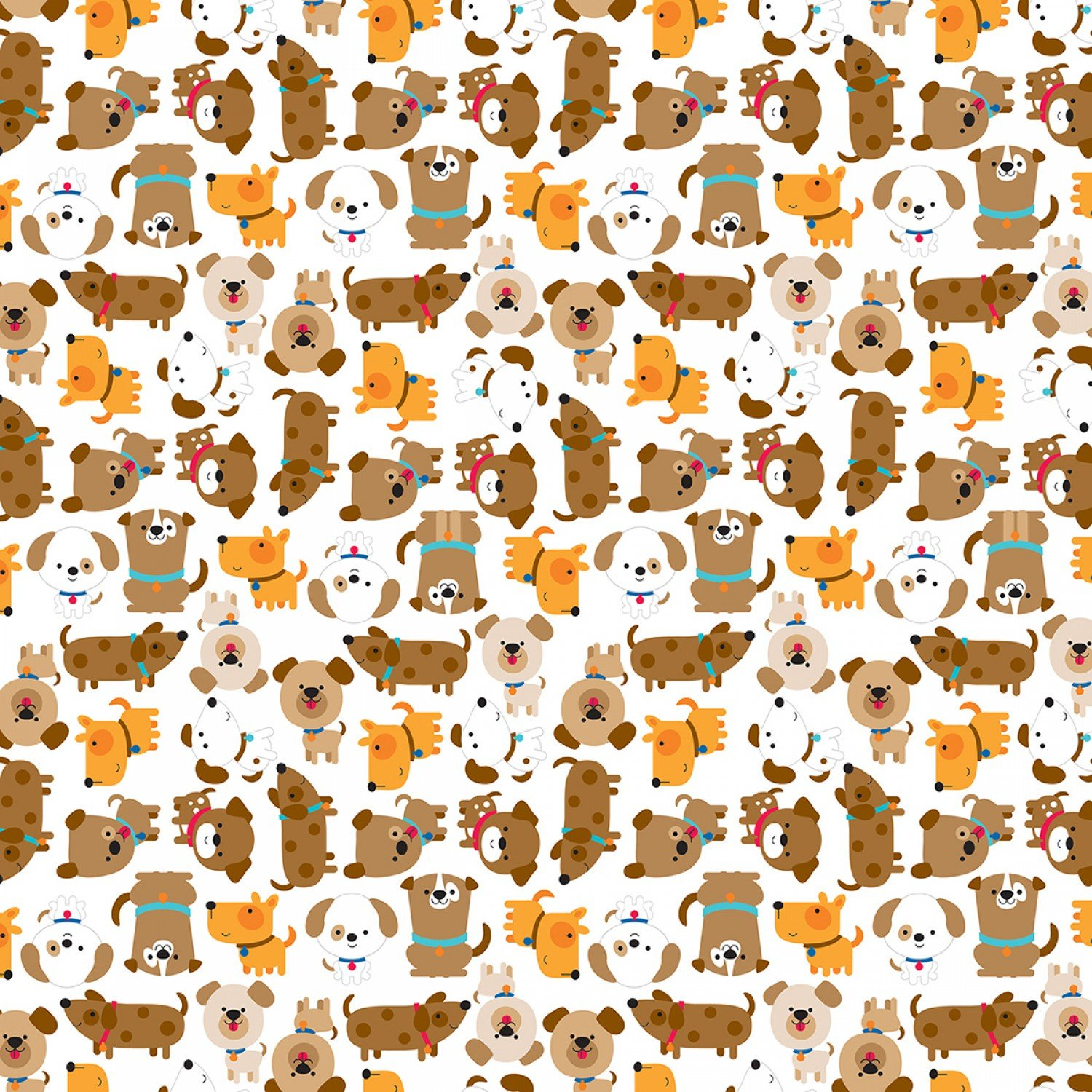 Puppy Love - Love in White by Doodlebug Design Inc for Riley Blake