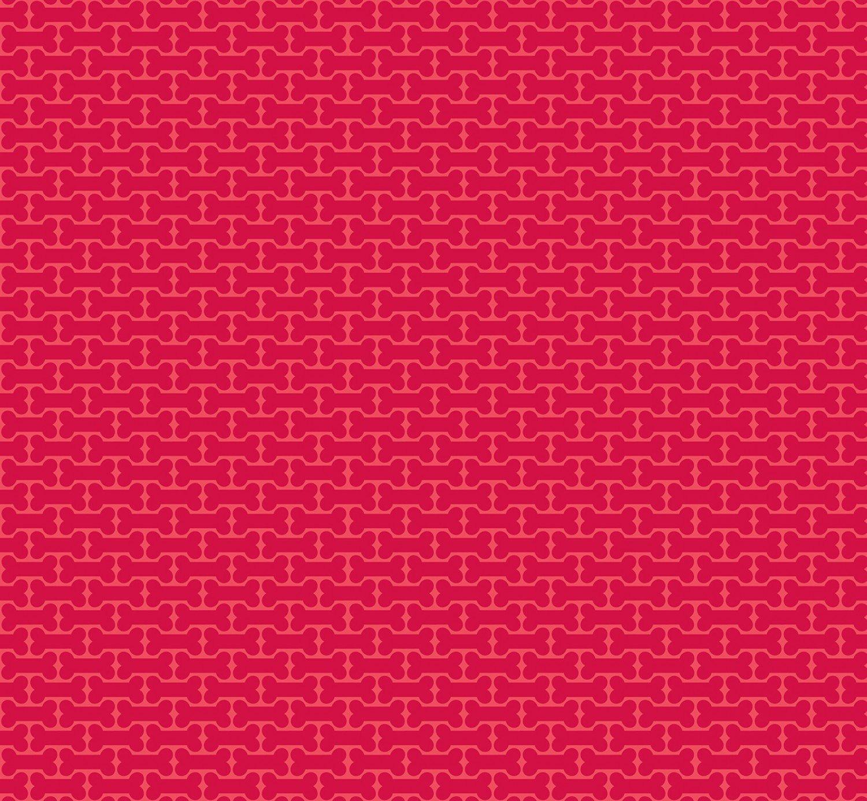 Puppy Love - Bones in Red by Doodlebug Design Inc for Riley Blake