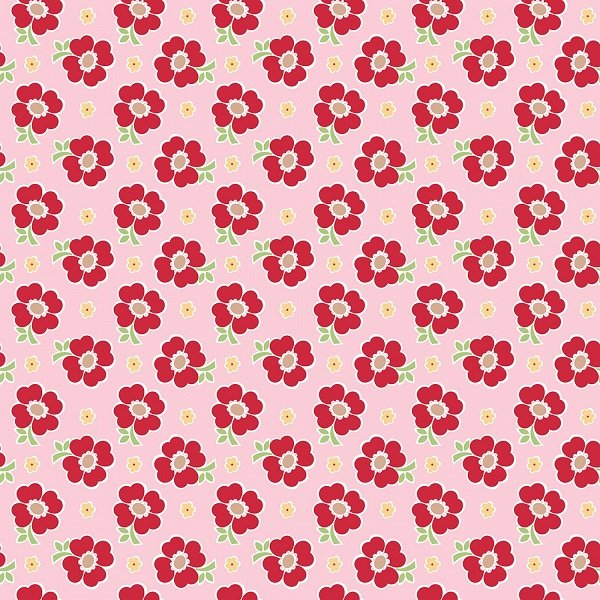 Bake Sale 2 - Floral in Pink by Lori Holt for Riley Blake
