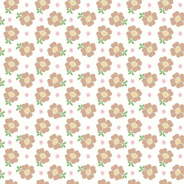 Bake Sale 2 - Floral in White by Lori Holt for Riley Blake