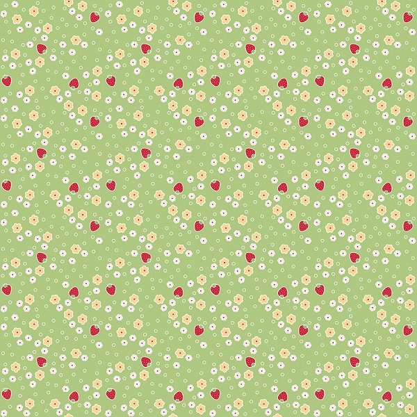 Bake Sale 2 - Strawberry in Green by Lori Holt for Riley Blake