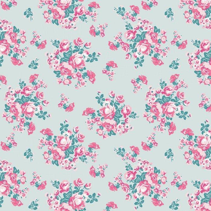 Chloe & Friends - Floral in Mint by Melissa Mortensen for Riley Blake