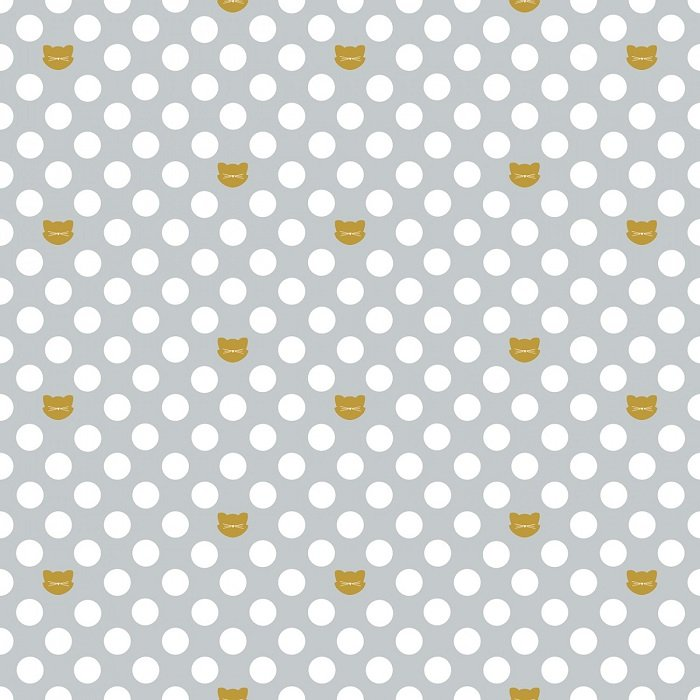 Chloe & Friends - Cat Dot in Gray with Sparkle by Melissa Mortensen for Riley Blake