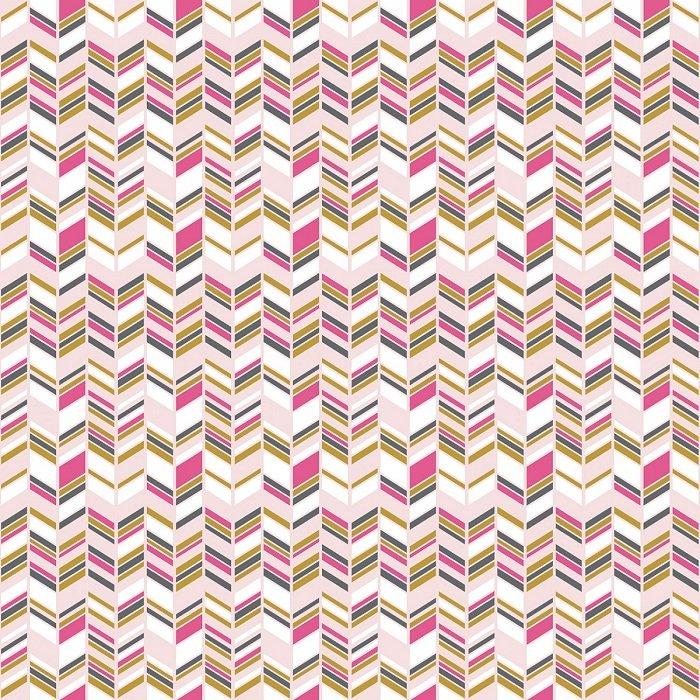 Chloe & Friends - Herringbone in Pink with Sparkle by Melissa Mortensen for Riley Blake
