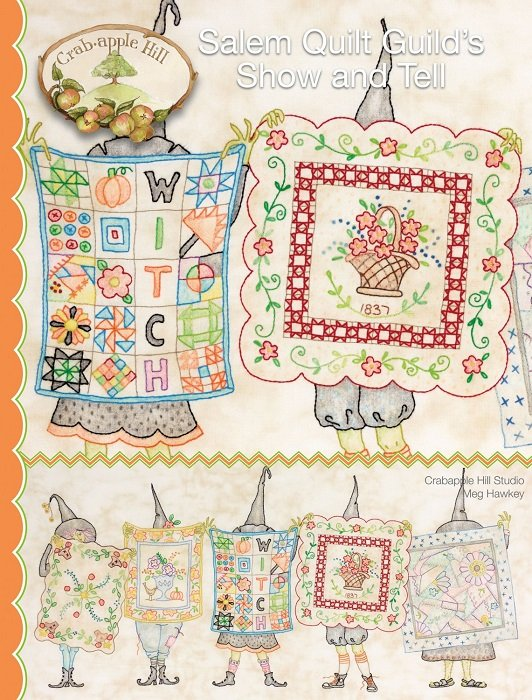 Pattern - Salem Quilt Guild's Show and Tell (24.5 x 12) by Meg Hawkey from Crabapple Hill Design