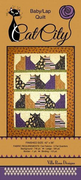Cat City - A Villa Rosa Pattern (42 x 56)