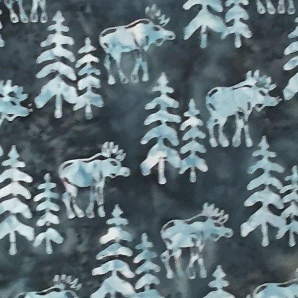 Canadiana Batiks - Moose on Navy by Celestial Batiks