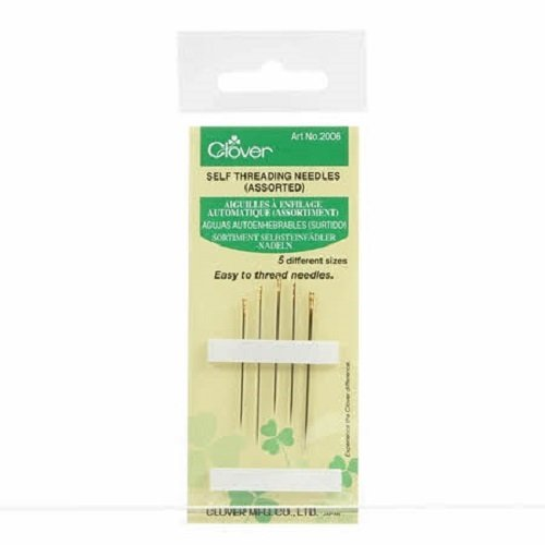 5 Self Threading Needles (Assorted Sizes) by Clover