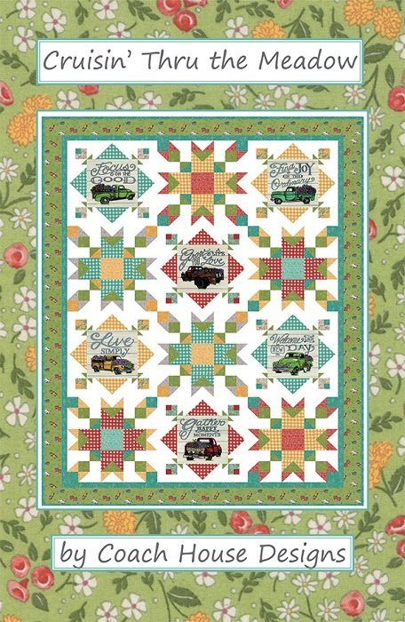 Pattern - Cruisin' Thru the Meadow (56 x 72) by Barb Cherniwchan from Coach House Designs