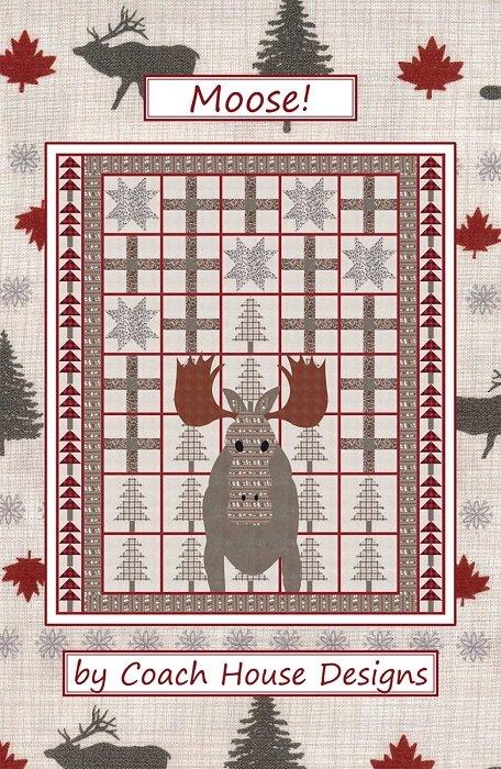 Pattern - Moose (68 x 80) by Barbara Cherniwchan for Coach House Designs