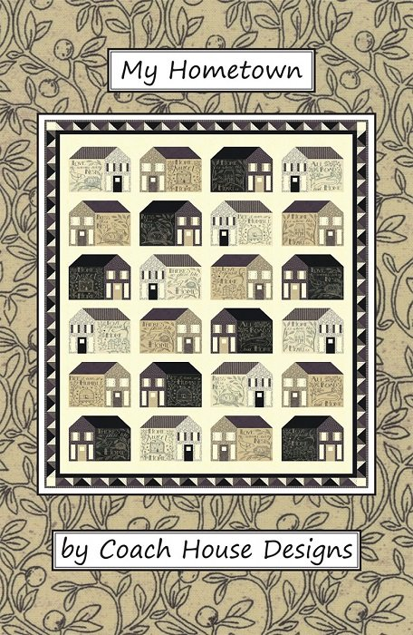 Pattern - My Hometown (72 x 88) by Barbara Cherniwchan from Coach House Designs