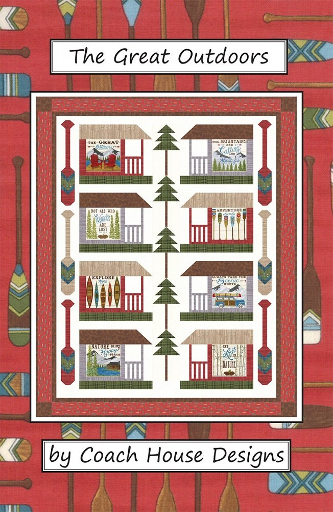 Pattern - The Great Outdoors (56 x 74) by Barb Cherniwchan from Coach House Designs