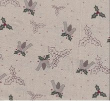 Candy Cane Angels - Holly's and Birds in Neutral by Lynette Anderson for RJR Fabrics