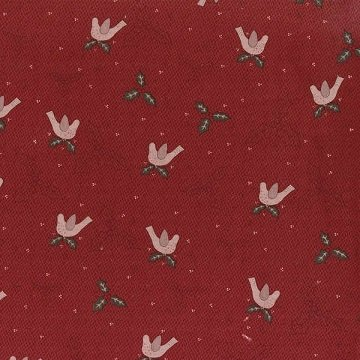 Candy Cane Angels - Holly's and Birds in Red by Lynette Anderson for RJR Fabrics
