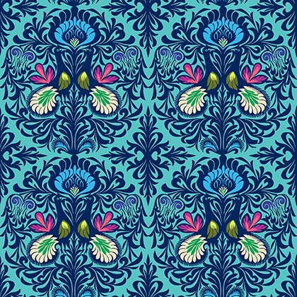 Soul Mate - It Takes Two in Aqua by Amy Butler for Free Spirit