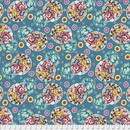 Night Music - Cloud Blossom in Turquoise by Amy Butler for Free Spirit