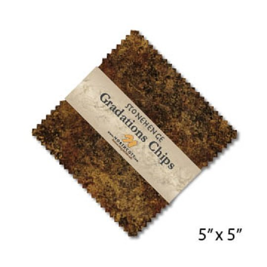 Chips - Stonehenge Gradations in Iron Ore (42 x 5 squares) by Linda Ludovico for Northcott