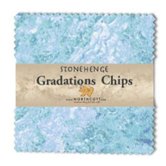 Chips - Stonehenge Gradations in Mystic Midnight (42 x 5 squares) by Linda Ludovico for Northcott