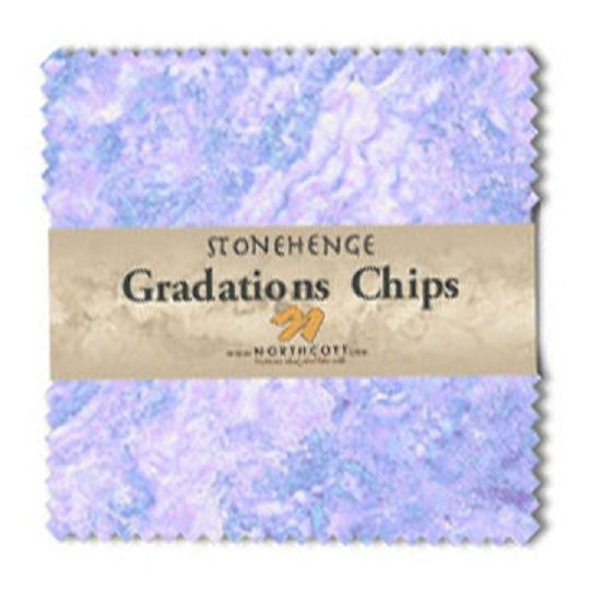 Chips - Stonehenge Gradations in Mystic Twilight (42 x 5 squares) by Linda Ludovico for Northcott
