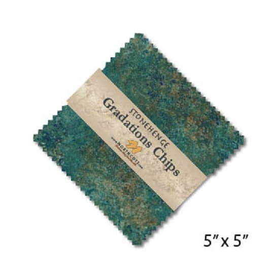 Chips - Stonehenge Gradations in Oxidized Copper (42 x 5 squares) by Linda Ludovico for Northcott