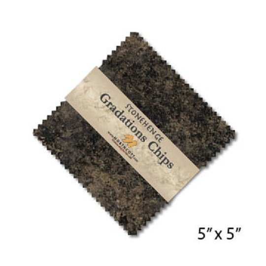 Chips - Stonehenge Gradations in Slate (42 x 5 squares) by Linda Ludovico for Northcott