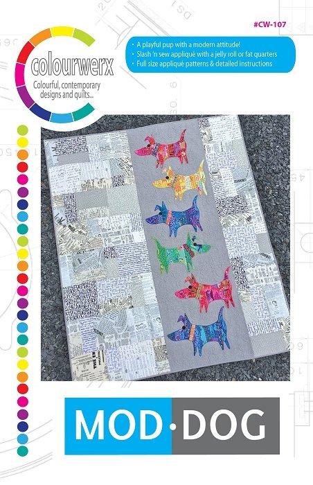 Pattern - Mod Dog (53 x 64) by Linda & Carl Sullivan for Colourwerx