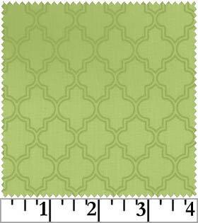 Pearl Essence - Quatrefoil in Green by Maywood Studio